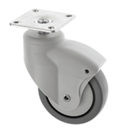 Slimline Medical Castors Top Plate Fitting ES Series