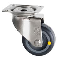 Stainless Steel Anti Static Castors Rubber Wheel SSL Series