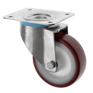 SS Series Medium Duty Stainless Steel Casters Polyurethane Wheel