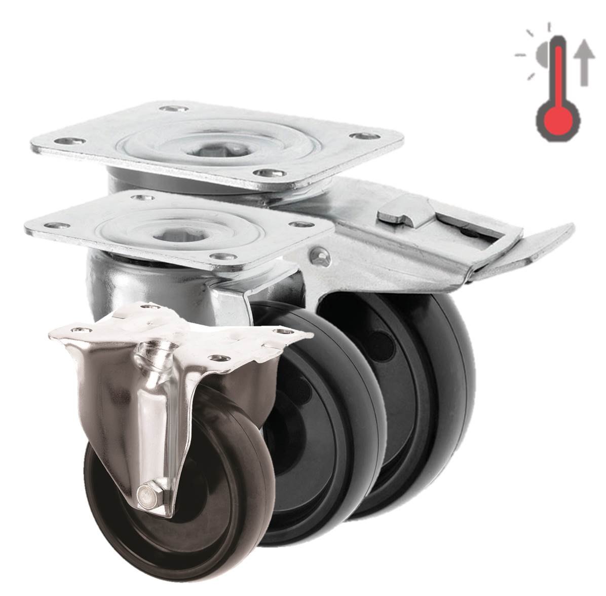 High Temperature Castors Phenolic Resin Wheel 3360 Series