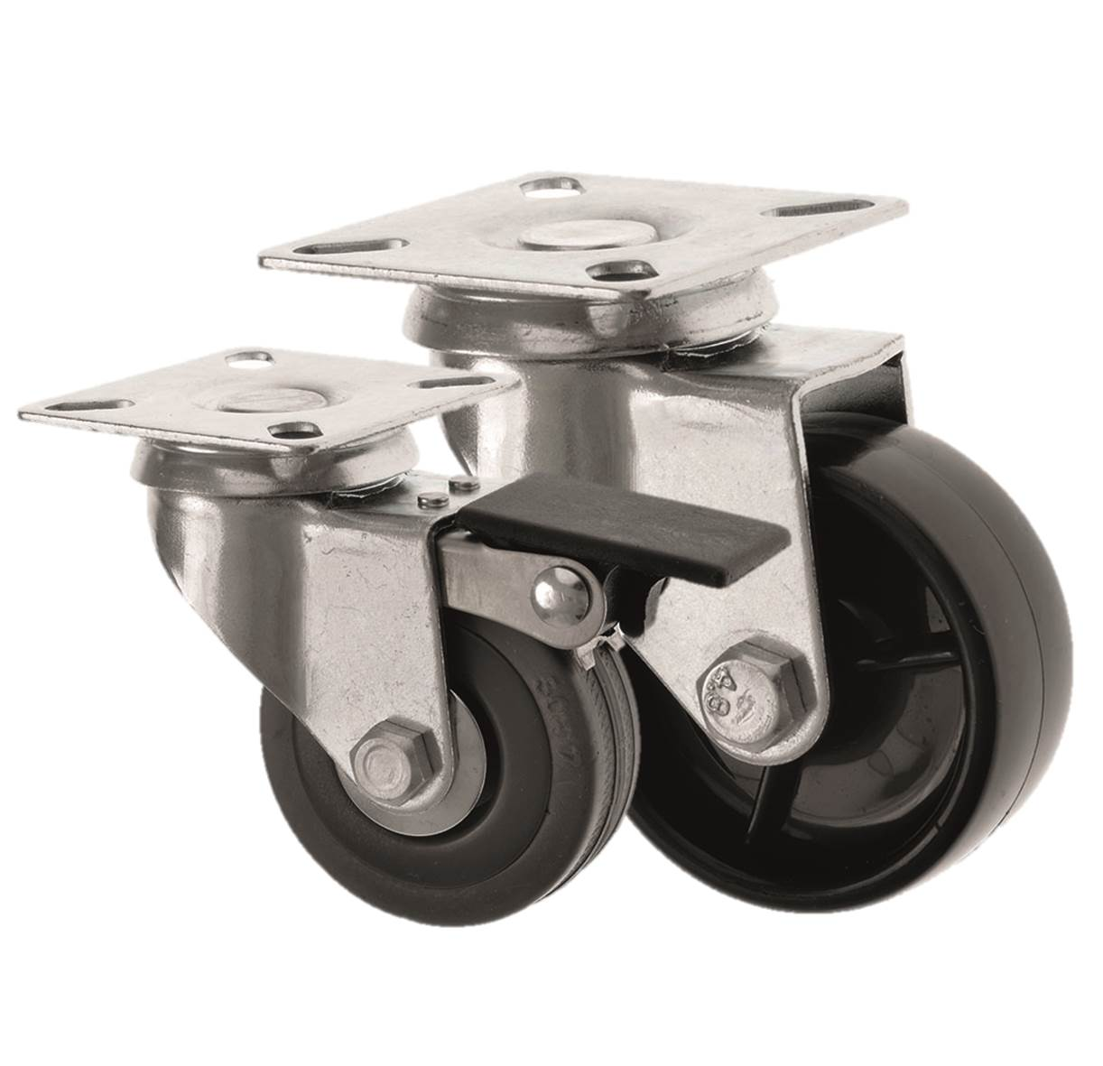 BUDGET Castors Light Duty Top Plate Fitting