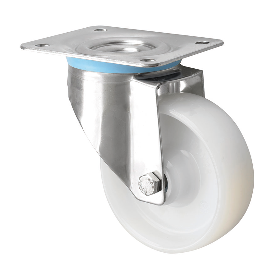 316 Grade Stainless Steel Castors with Nylon Wheel