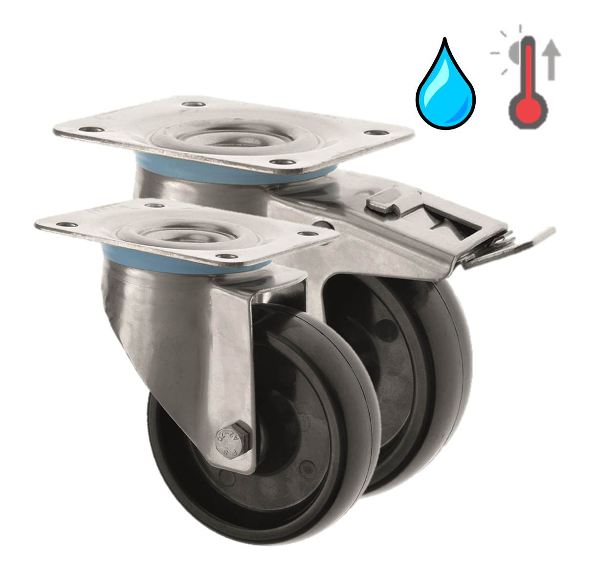 Stainless Steel High Temperature Castors Phenolic Resin