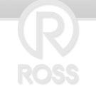 200mm Fixed Non Marking Blue Rubber Castors 400kg Capacity