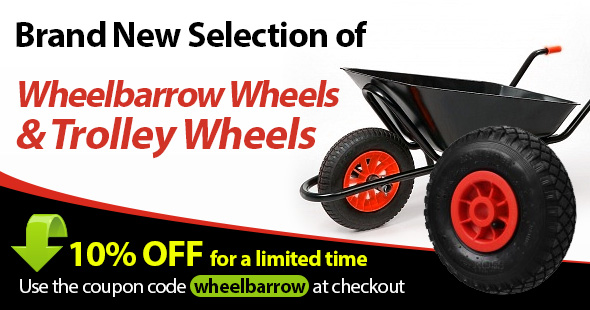 Wheelbarrow Wheels and Trolley Wheels Special